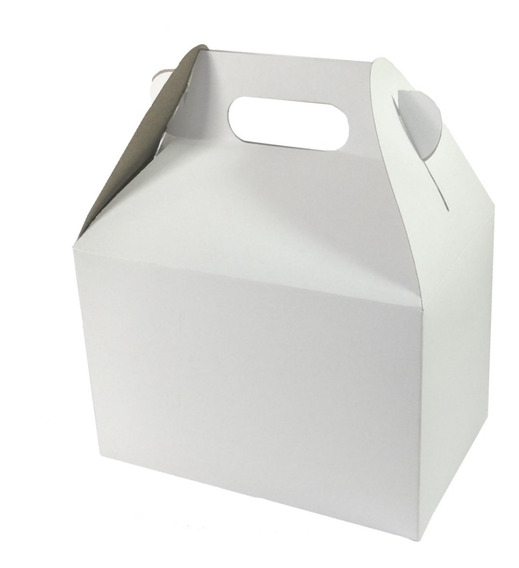 25 Cajas De Cartón Boxlunch Mediana Brillante Para Sublimar