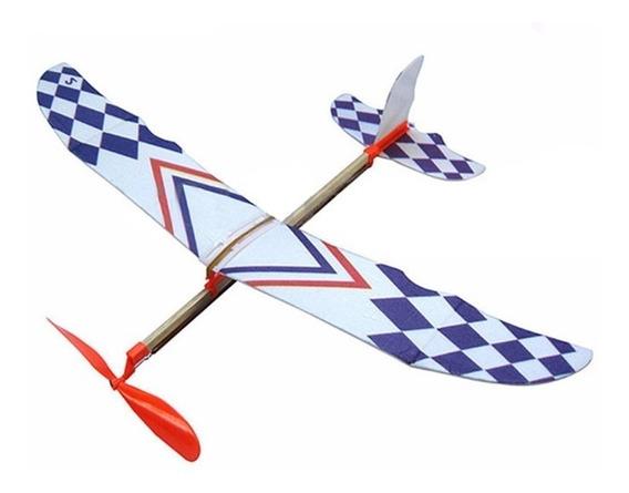 Planador Avião Movido A Elástico Pronta Entrega