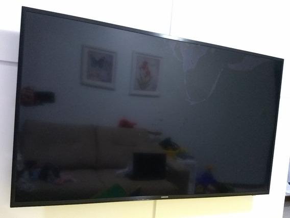 Smart Tv Samsung Mu6100 49 Uhd 4k -tela Danificada-