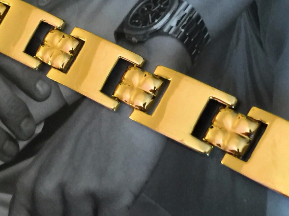 Pulseira Em Ouro 18k-750, 19.5 Gr., Comp. 20cm.