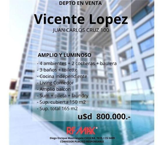 (permuta) Depto Con Dos Cocheras - Vicente Lopez