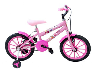 Bicicleta Infantil Menina Aro 16 Ello Paty