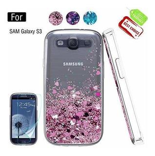 Carcasa Para Galaxy S3 S Iii I9300 Gs3 Con Protector De Pant