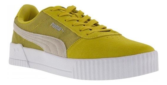 Tênis Puma Carina Lux Sd Amarelo 100% Original