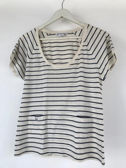 Camiseta Feminina Lacoste Listrada