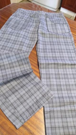 Pantalon En Loneta Escosesa T 40