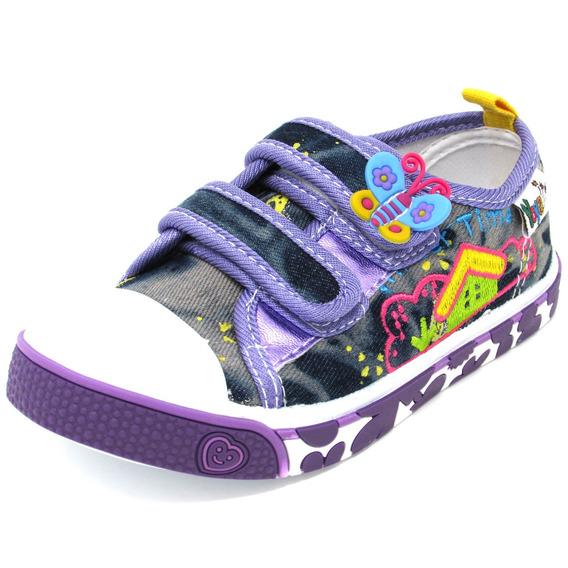 Zapatos Niñas Marca Yoyo L2003 Púrpura 25-30. Envío Gratis