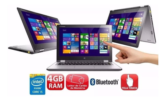 Notebook 2 Em 1 Touch Lenovo Yoga 500 Core I5 4gb Ram Hd 1tb