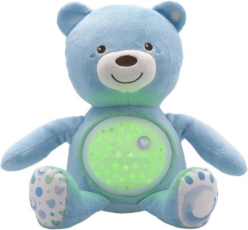 Imagen 1 de 6 de Chicco Azul Oso Peluche Proyector Musical Hora Dormir Bebé