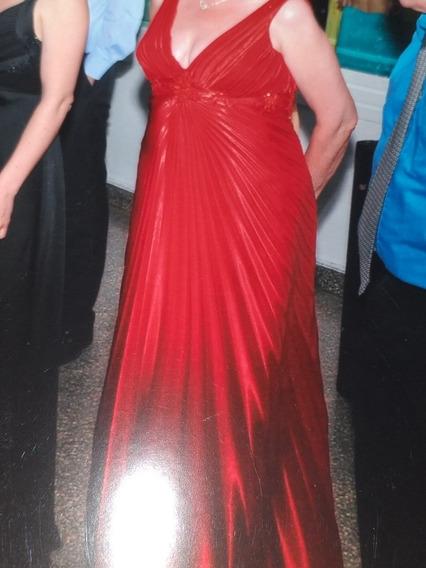 Vestido De Fiesta Largo Impecable Rojo