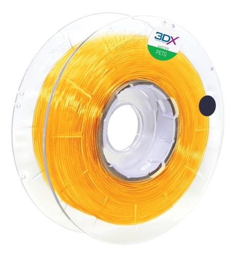 Filamento Petg 1,75 Mm   500g   Amarelo Translucido