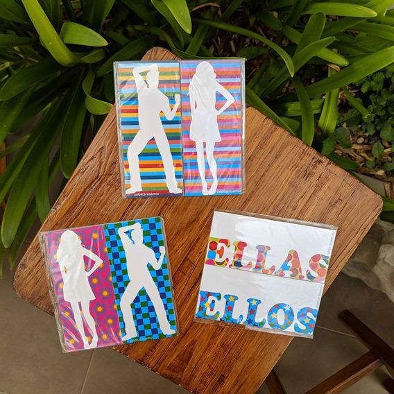 Cartel Baño 7x15 Señal Mujer Hombre Ellas Ellos Pvc