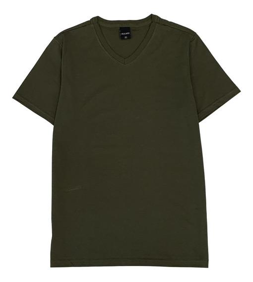 Camiseta Masculina Básica Malwee Gola Em V - 1000004422