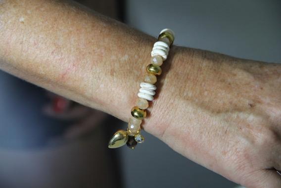 Bracelete Com Pedras E Coração