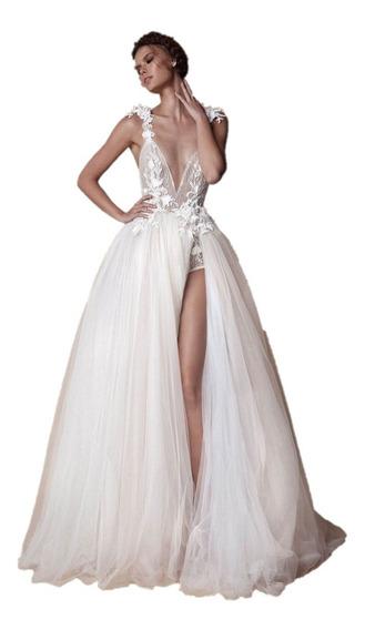 Vestido De Novia Boda Casamiento Civil Fiesta Noche Sexy