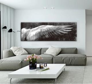 Cuadro Decorativo Canvas Ala Angel 180 X 60 Cm Envió Gratis