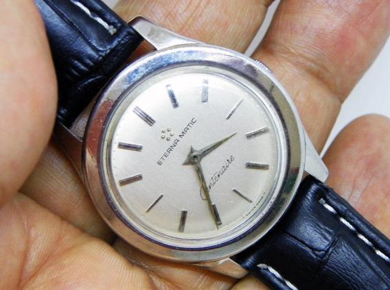 Reloj Eternamatic Centenaire Caja De Acero Dial Blanco