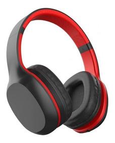 Fone De Ouvido Xtrax Groove Bluetooth - Preto E Vermelho