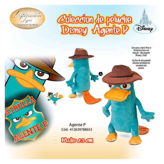 Peluche Agente P Disney 100% Original