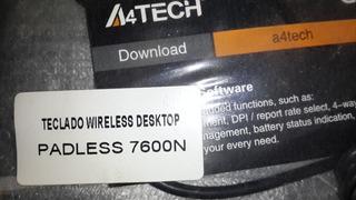 Teclado A4tech Kit + Mouse Inalambrico