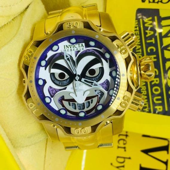 Relógio Invicta Joker Coringa Branco Palhaço Coringa