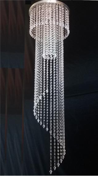 Lustre Art Crist Acril Espiral Com 1,70m Base 40m P/ 1lâmp