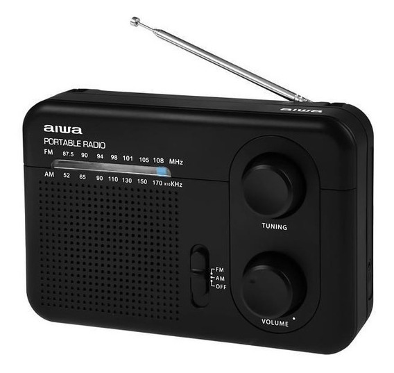 Rádio Portátil Am Fm Aiwa Aw Lr411am-fm 0.7 Watts Rms Bivolt