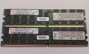 Memória Hynix 4gb Pc2-5300p 667mhz Dual Rank Ecc Registrado