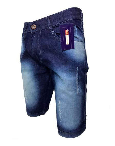 Kit C/ 4 Bermudas Jeans+ 2 Calças Jeans Skinny Lycra C/ Nf-e