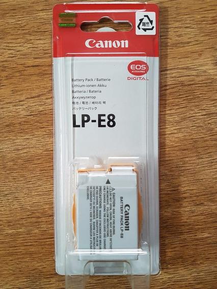 Original Lp-e8 C/ Nf-e Câmeras T2i T3i T4i T5i S/ Ef.memoria