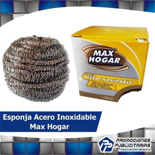 Esponja De Acero Inoxidable Max Hogar Pack 4 Unidades