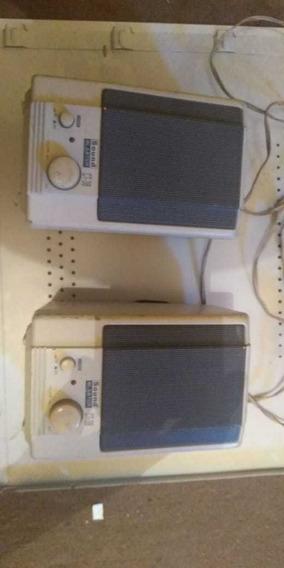 Caixas De Som Sound Blaster Amplificafas Vintage.