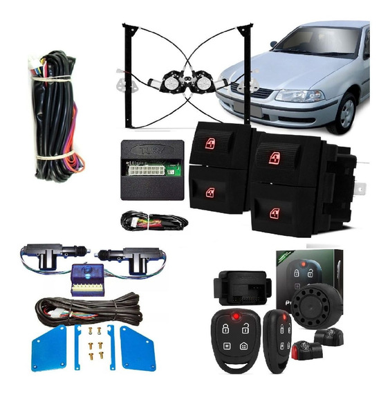 Vidro Eletrico Gol G3 2 Portas + Alarme Positron +trava