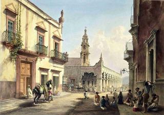 Lienzo Tela Arte Mexicano Aguascalientes 1840 Daniel Egerton