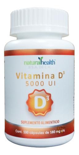 Imagen 1 de 3 de Vitamina D3 5000 Ui (100 Caps) Naturalhealth