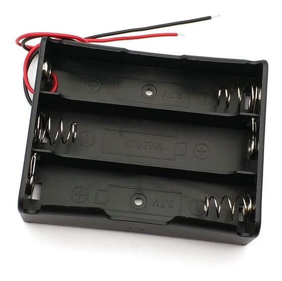 Suporte Para 3x Baterias Pilhas 18650 3,7v - Frete Grátis Carta Registrada B027