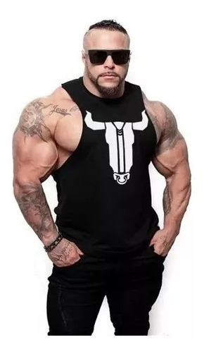 Camiseta Bulking Toro 2019 Bodybuilder Gym Fitness Crossfit