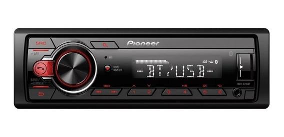 Stereo Pioneer Mvh-s215 Bluetooth Usb Aux Frente Desmontable