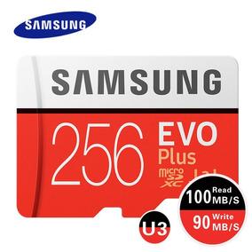 Cartao Samsung Micro Sd Sdxc Evo Plus 256gb 100mb/s