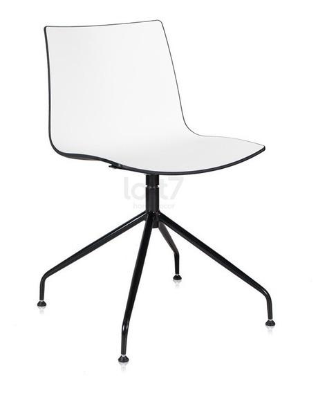 Cadeira Poltrona Step Jantar Cozinha Design Giratória Branco