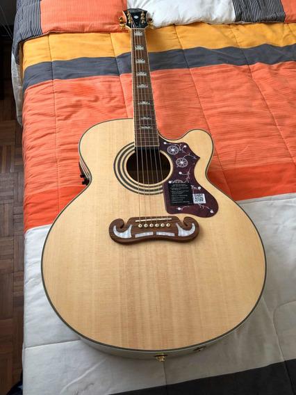 Guitarra Electro Acústica EpiPhone Ej-200 Como Nueva