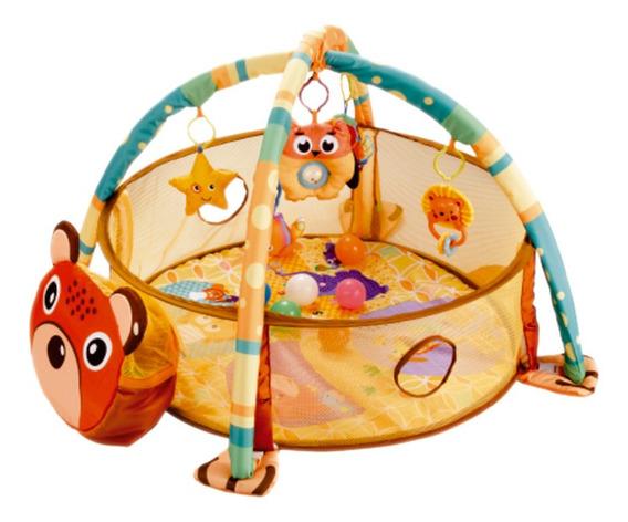 Tapete Infantil Atividade 3x1 Com Piscina De Bolinhas