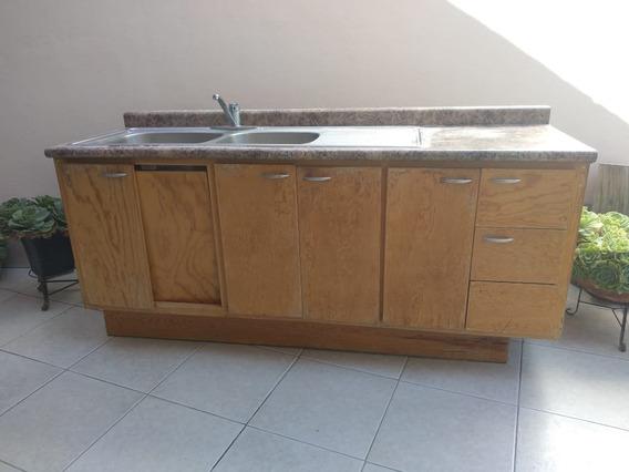 Tarja De Cocina Integral Con Mueble Con Cajones Y Puertas