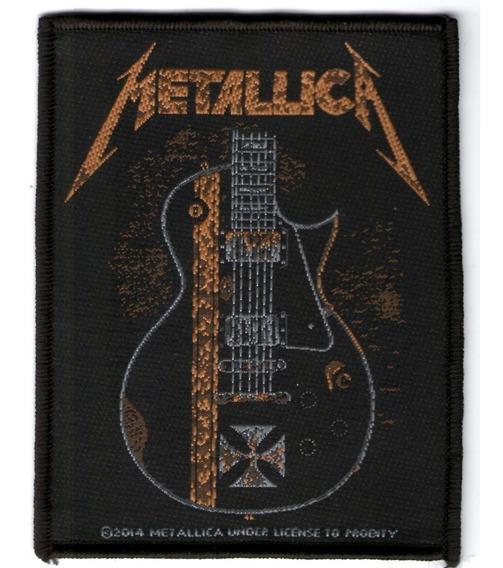 Patch Microbordado - Metallica - Guitarra (cruz) - Oficial