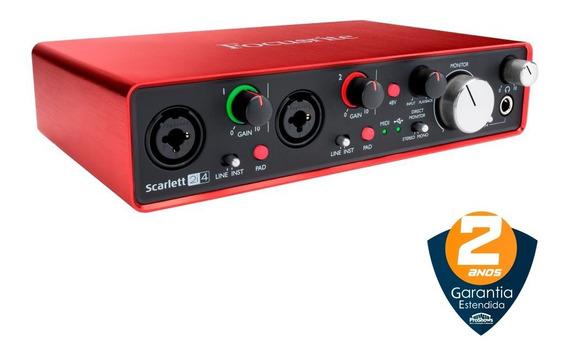 Interface De Áudio Usb Focusrite Scarlett 2i4 2ª Geração