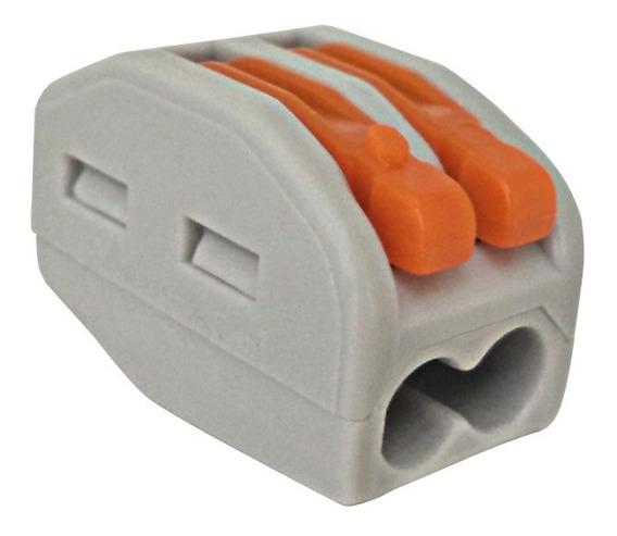 Kit 10 Conector Emenda Tipo Wago 2 Fios 2,5mm