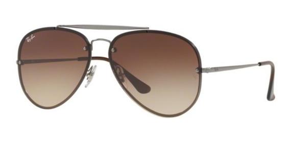 Oculos Sol Ray Ban Blaze Aviador Rb3584n 004/13 61mm Grafite