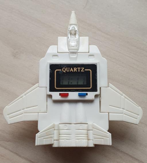Reloj Transformers Avión Colección Vintage Nuevo Nos Ral
