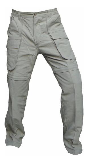 Pantalon Explora Desmontable Ripstop Desgarro Bermuda Hombre