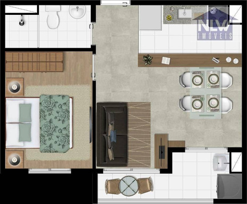 Apartamento Com 1 Dormitório À Venda, 36 M² Por R$ 223.823,00 - Presidente Altino - Osasco/sp - Ap3300